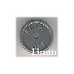 13mm Flip Off Vial Seals, Dark Gray, Pack of 100