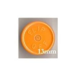 13mm Flip Off Vial Seals, Faded Light Orange, Pack of 100