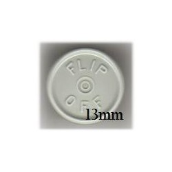 13mm Flip Off Vial Seals, Light Misty Gray, Pack of 100