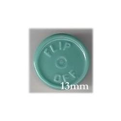13mm Flip Off Vial Seals, Slate Blue Green, Bag 1000