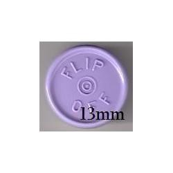 13mm Flip Off Vial Seals, Lavender, Pack of 100